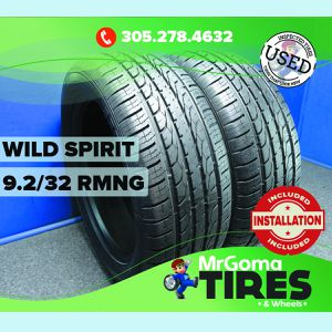 2 WILD SPIRIT SPORT HXT A/S XL 255/50/19 USED TIRES 9.4/32 RMNG NO PATCH 2555019 for Sale in Miami, FL
