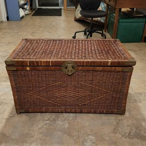 Vintage Chinese Styled Wicker Chest for Sale in Portland, OR