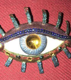Handmade Bejeweled Eye Pin for Sale in Dunwoody,  GA
