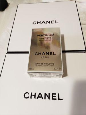 Mens cologne Platinum Chanel Egoïste pour homme eau de toilette vaporisateur 3.4ml 100 fl oz cologne perfume for Sale in San Diego, CA