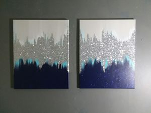 2 piece home decor set wall paintings for Sale in Smyrna, GA
