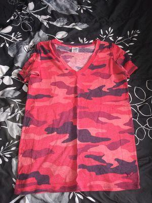 Pink VS small runs big camo shirt for Sale in Joliet, IL