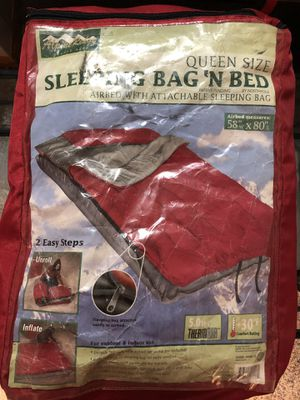 Sleeping bag for a queen sized air mattress for Sale in South Attleboro, MA