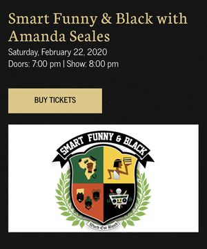 (2) Comedy tickets to Amanda Seales @ The Fox for Sale in Piedmont, CA