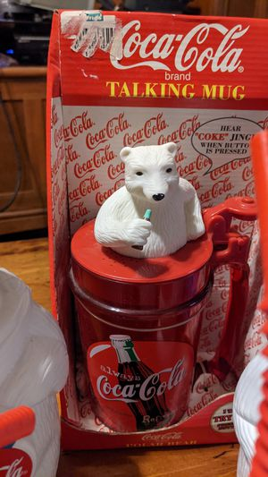 Coke bear cups and talking mug for Sale in CORNWALL Borough, PA