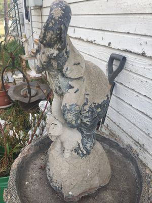 Cement elephants to top a fountain for Sale in Alvarado, TX
