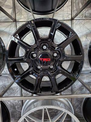 18x8 5x150 et 50 tundra Trd gloss black wheels rims tires for Sale in Tempe, AZ