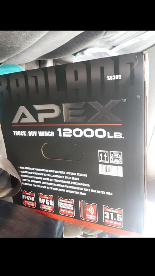 Apex borderland 12000 lb winch