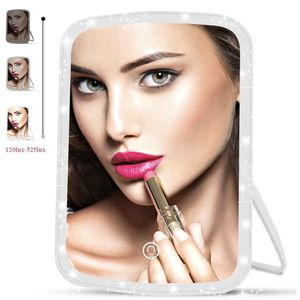 Makeup Mirror with Lights,33 LEDs Vanity Mirror USB Rechargeable with Touch Screen, Dimmable Lighted Travel Makeup Mirror Bright Daylight (White) for Sale in Santa Ana, CA