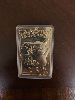 Pokemon collectable 23 karat gold plated card for Sale in Portage, MI