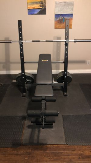 Body champ bench set for Sale in Banning, CA