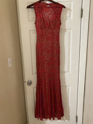 Red formal lace dress for Sale in Pico Rivera, CA