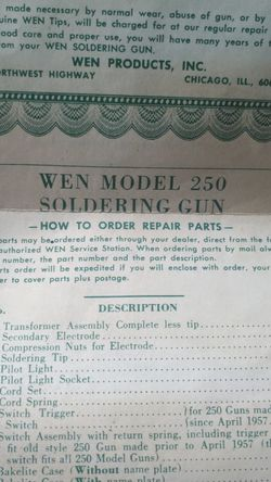 Vintage Wen 250 Watt Sauntering Gun for Sale in Granite City,  IL