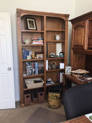 Wood and Glass Lighted Bookshelf for Sale in Beaverton, OR