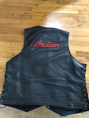 Indian Motorcycle Custom Leather Vest Perfect Condition 2/3xxl for Sale in Long Beach, CA