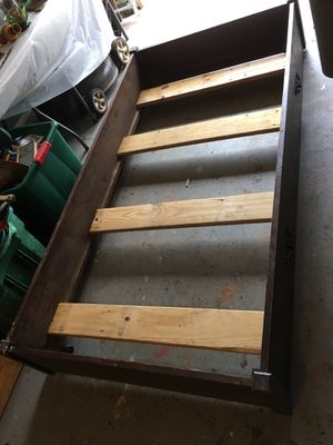 Wooden twin bed frame for Sale in Grovetown, GA