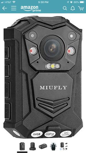 MIUFLY 1296p HD 32GB Waterproof Police Body Hidden Camera with Mini Auxiliary Body Camera Lens for Sale in Fort Wayne, IN