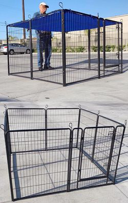 "New 40"" Tall x 32"" Wide Panel Heavy Duty 8 Panels Dog Playpen Pet Safety Fence gate valla Para perros (tarp not included) for Sale in South El Monte,  CA"