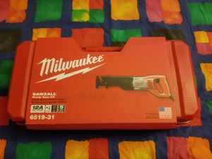 New Milwaukee 12 Amp SAWZALL Reciprocating Saw with Case for Sale in Renton, WA