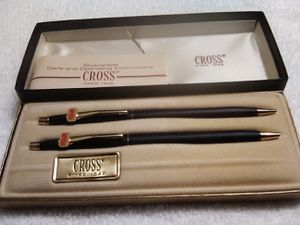 Vintage Cross Black With 24k Gold Luxury Pen and Pencil Set for Sale in Raleigh, NC