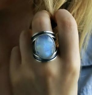 New moonstone sterling silver ring size 8 for Sale in Palatine, IL
