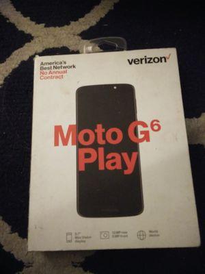 Moto g6 play Verizon read profile for Sale in Danbury, CT
