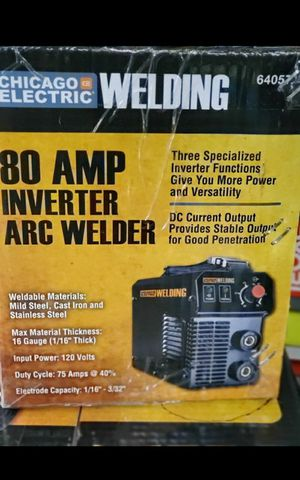 CHICAGO ELECTRIC WELDING 80 AMP INVERTER ARC WELDER BRAND NEW for Sale in San Bernardino, CA