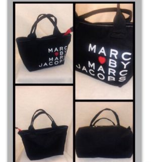 Marc by Marc Jacobs Small Tote Lunch Shopping Bag All-Purpose Black Canvas Tote for Sale in Carol Stream, IL