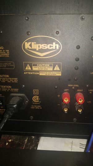 Klipsch 12in subwoofer and sound bar for Sale in Dallas, TX