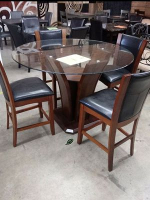 $39 Down  🍃🍂 BEST DEAL Camelia Espresso Round Counter Height Set 286 for Sale in Jessup, MD