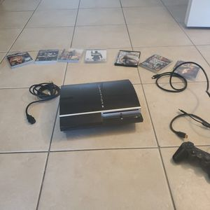 Phat PS3 model Playstation 3 80GB with 10 games for Sale in Miami, FL