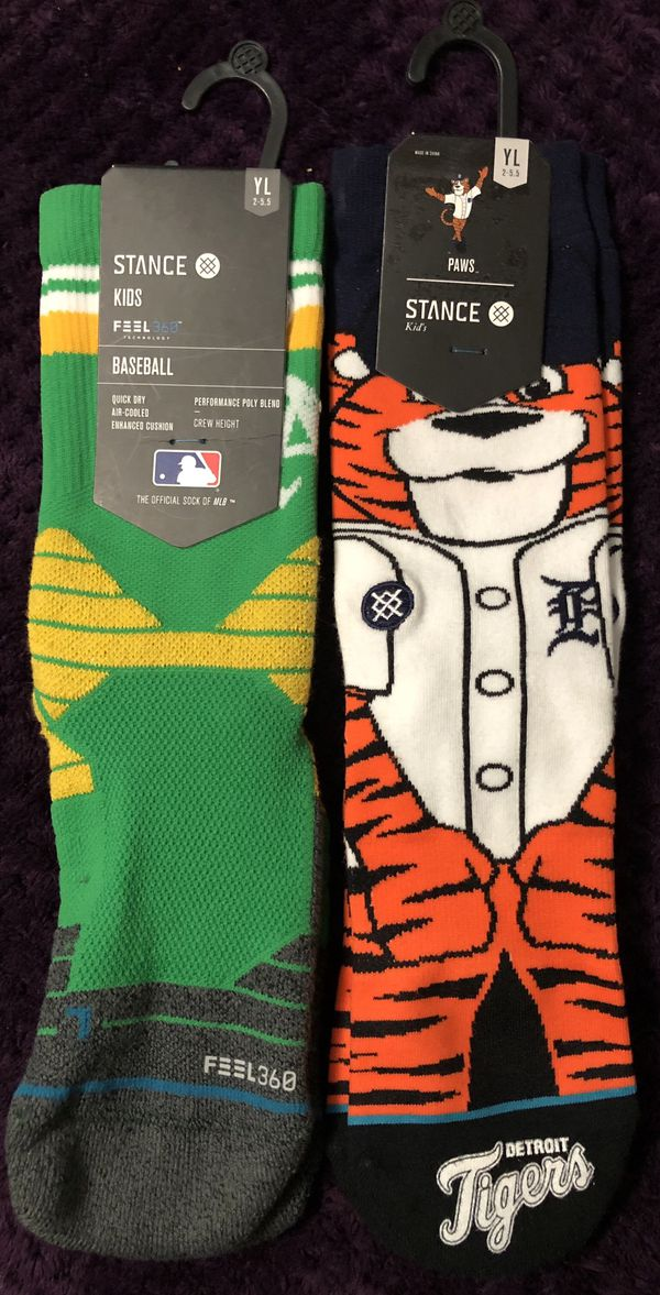 Stance Youth Oakland A's & Detroit Tigers Baseball Socks