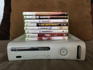 Xbox 360 with Games for Sale in Montclair, CA
