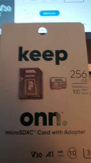 On 256gb class 10 u3 v30 microssxc flash memory card BRAND NEW for Sale in San Diego, CA