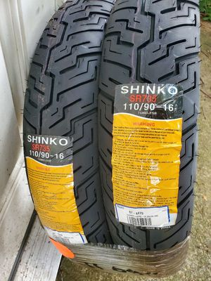 Shinko motorcycle tires. Fits Suzuki 250 and 500 models as well as many other bikes for Sale in Belmont, MA