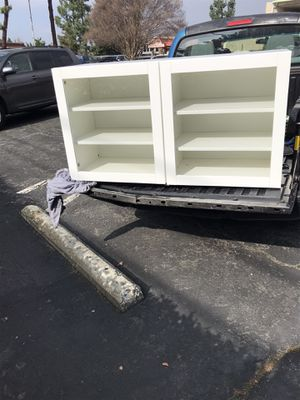 Beautiful tv stand w glass doors for Sale in Rialto, CA