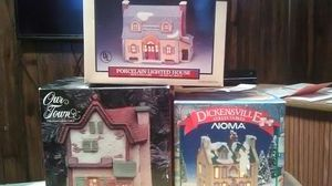 Lite up Xmas village porcelain houses for Sale in District Heights, MD