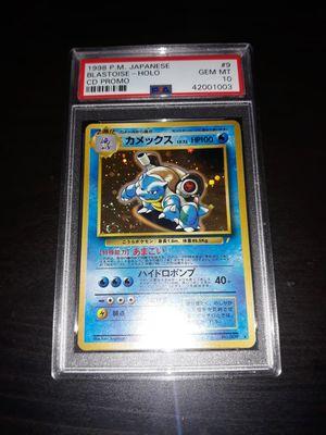 Pokemon Blastoise Japanese CD Promo Trade Please PSA10 GEM Mint for Sale in Queens, NY