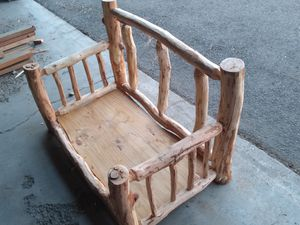 Log bed for dog for Sale in Spokane, WA