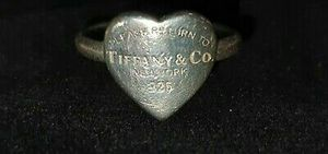 Tiffany and Co 925 Silver Vintage Heart Ring Size O. for Sale in Washington, DC