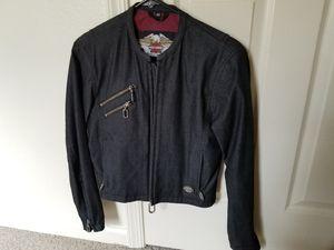 New harley Davidson xs denim motorcycle jacket for Sale in Fort Belvoir, VA