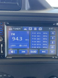 Double Din Car Stereo Cd Player USB Camera inputs made by dual Best Buy for Sale in Sunol,  CA