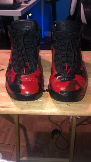 Red Camouflage Air Jordan 10s for Sale in Greenville, MS