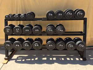Dumbbell set with rack for Sale in Los Angeles, CA