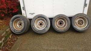 4 ratrod chevy chrome reverse rims for Sale in Bremerton, WA