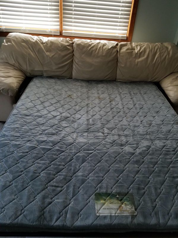 Leather Couch w/ bed for SALE