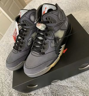 "Off-White x Air Jordan 5 Retro ""Muslin"" Size 10.5 for Sale in Los Angeles, CA"