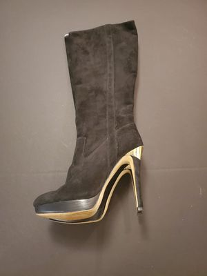 Michael Kors Womens knee High Stiletto Boots Black Size 8.5 for Sale in Valrico, FL
