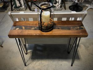 River Rock Epoxy Console Table for Sale in Longmont, CO