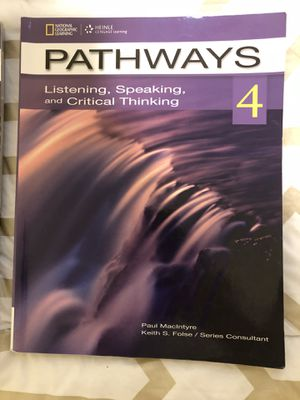 Pathways 4 listening, speaking, and critical thinking for Sale in Rockville, MD